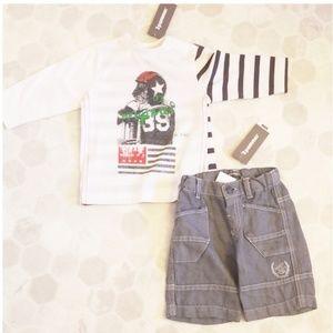 3POMMES shirt & short set